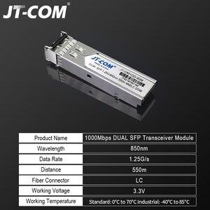 Image 2 - Módulo SFP óptico de 1Gb Gigabit 850nm 550m DDM Duplex multimodo LC Mini Gbic 1,25G Módulo SFP de fibra Módulo Tranceiver Switch SFP compatível Mikrotik Cisco