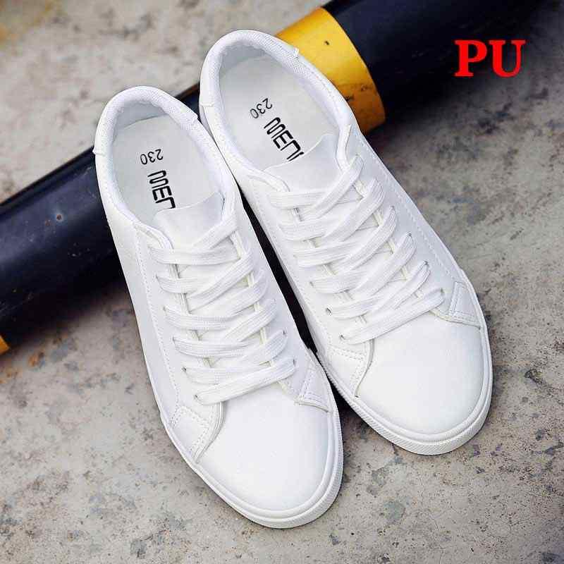 Vulcanize Sneaker Musim Panas Wanita Pelatih Sepatu Kets Putih Kulit Kanvas Sepatu Tenis Feminino Klasik Kasual Kapas Zapatos Mujer