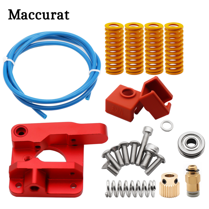 3D Printer Upgraded Long-Distance Remote Metal Ender 3 CR10 Extruder Leveling Spring PETG Tube MK9 Silicone Sleeve Cover J-head