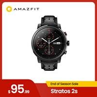 Amazfit-Reloj inteligente Stratos+, dispositivo con correa de cuero genuino, con insignia de buque y caja para regalo, Zafiro 2S, nuevo 2019
