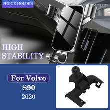 Car Mobile Phone Holder Special Air Vent Mounts Stand GPS Gravity Navigation Bracket For Volvo S90 2020 2021 Car Accessories