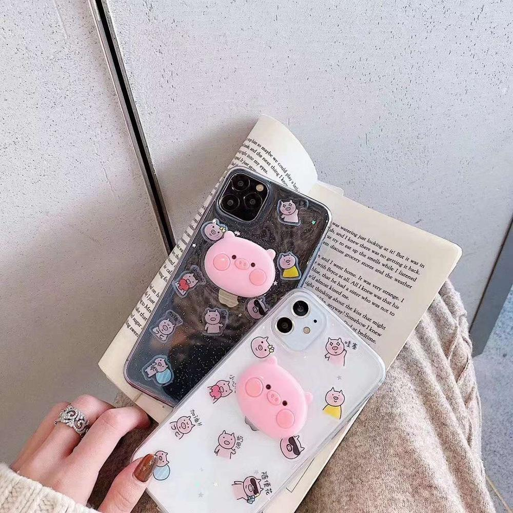 Cartoon Red Pink Pig Cute Cases Cover For Iphone 11 Pro Max X Xs XR MAX 8 7 6 6S Plus Tpu Soft Silicone Phone Case Coqu