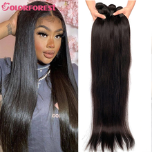 30 32 34 36 38 40 Inch Remy Brazilian Straight Hair Bundles Natural Human Hair Weave Bundles Double Wefts Hair Extensions