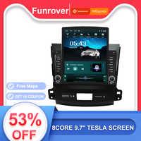 Funrover 9.7 Tesla dello schermo di Android 9.0 car multimedia Player radio gps navi Per Mitsubishi Outlander xl 2 2005- 2011 rds BT nodvd