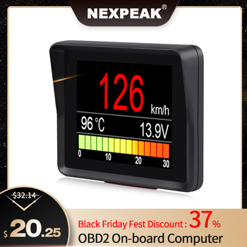 NEXPEAK A203 OBD2 On-board Computer Car Digital Computer Trip Display Speed Fuel Consumption Temperature Gauge OBD2 Scanner image