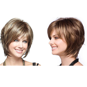 HAIRJOY Women Synthetic Hair Wig Bob Short  2PCS /Lot with 2 Different Color Wigs Free Shipping