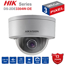 Hik PTZ IP Camera DS 2DE3304W DE 3MP Network Mini Dome Camera 4X Optical Zoom Support