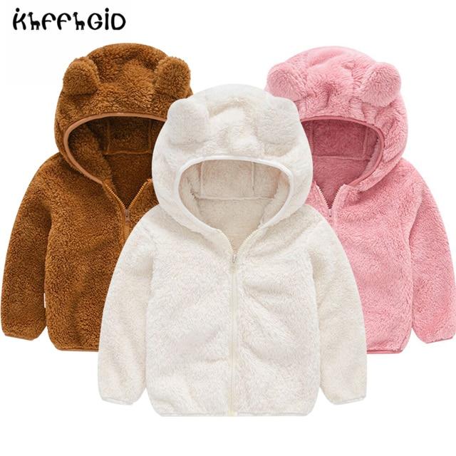 Fleece Baby Coat with Bear Ears 2