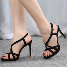 women High Heel Sandalias shoes Sexy Open Toe sexy Ankle Strap Gladiator Sandal Woman Dress Shoes Sapato Feminino dress sandals stylish rope style lace up keen high sandal booties sexy strappy open toe stiletto heel gladiator sandals fashion dress shoes
