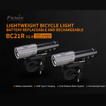 Fenix Luz LED blanca neutral BC21R V2.0, 1000 lúmenes, recargable, ligera, para bicicleta