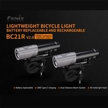Fenix bc21r v2.0 cree branco neutro led 1000 lumens recarregável luz de bicicleta leve