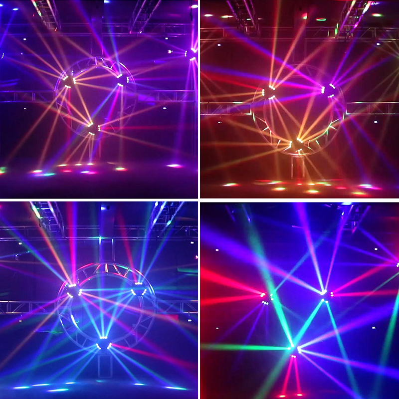 New Arrival MINI LED 9x10W LED Spider Light RGBW 16/48CH DMX Stage Lights Dj LED Spider Moving Head Beam Light 6