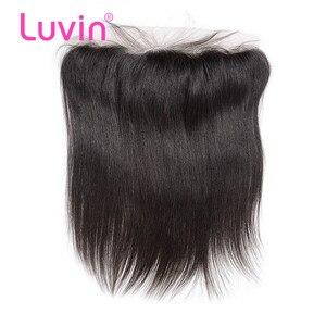 Luvin OneCut волосы прямые бразильские волосы Кружева Фронтальная застежка с волосами младенца 13х4 уха до уха предварительно сорванные 100% Remy чел...