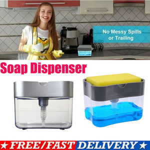 Портативный 2 в 1 ручной диспенсер для мыла и держатель для губки для кухонного мыла и губки 2020 новая горячая распродажа