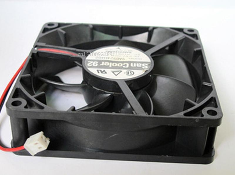 Free Shipping 9CM 9025 24V 0.1A 9A0924H402 2 Line Silent Dual Ball Bearing Heat Dissipation Fan