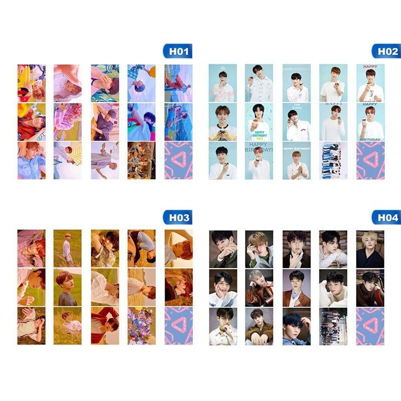 14Pcs/Set KPOP Seventeen Team  Album Collection Love Letter Photo Card PVC Cards Self Made LOMO Card Photocard
