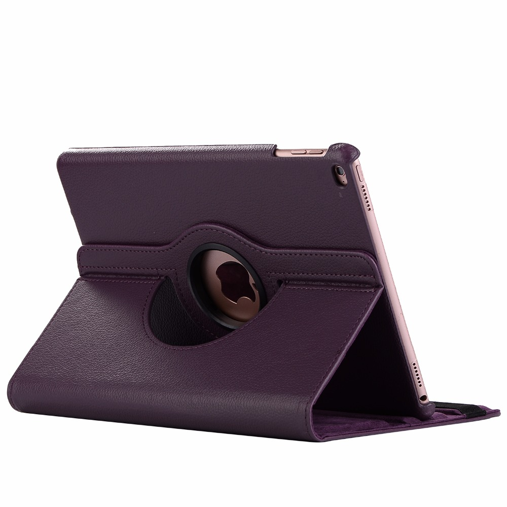 purple Purple 360 Degree Rotating PU Leather Flip Cover Case For iPad 10 2 2020 2019 8th 7th