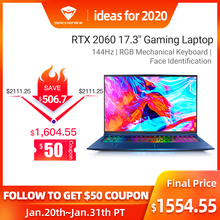 "Machenike F117-FPD i7 Gaming laptop (i7-9750H+RTX2060 6G+16G RAM/17.3""144Hz)Face recognition игровой ноутбук laptop i7 notebook"