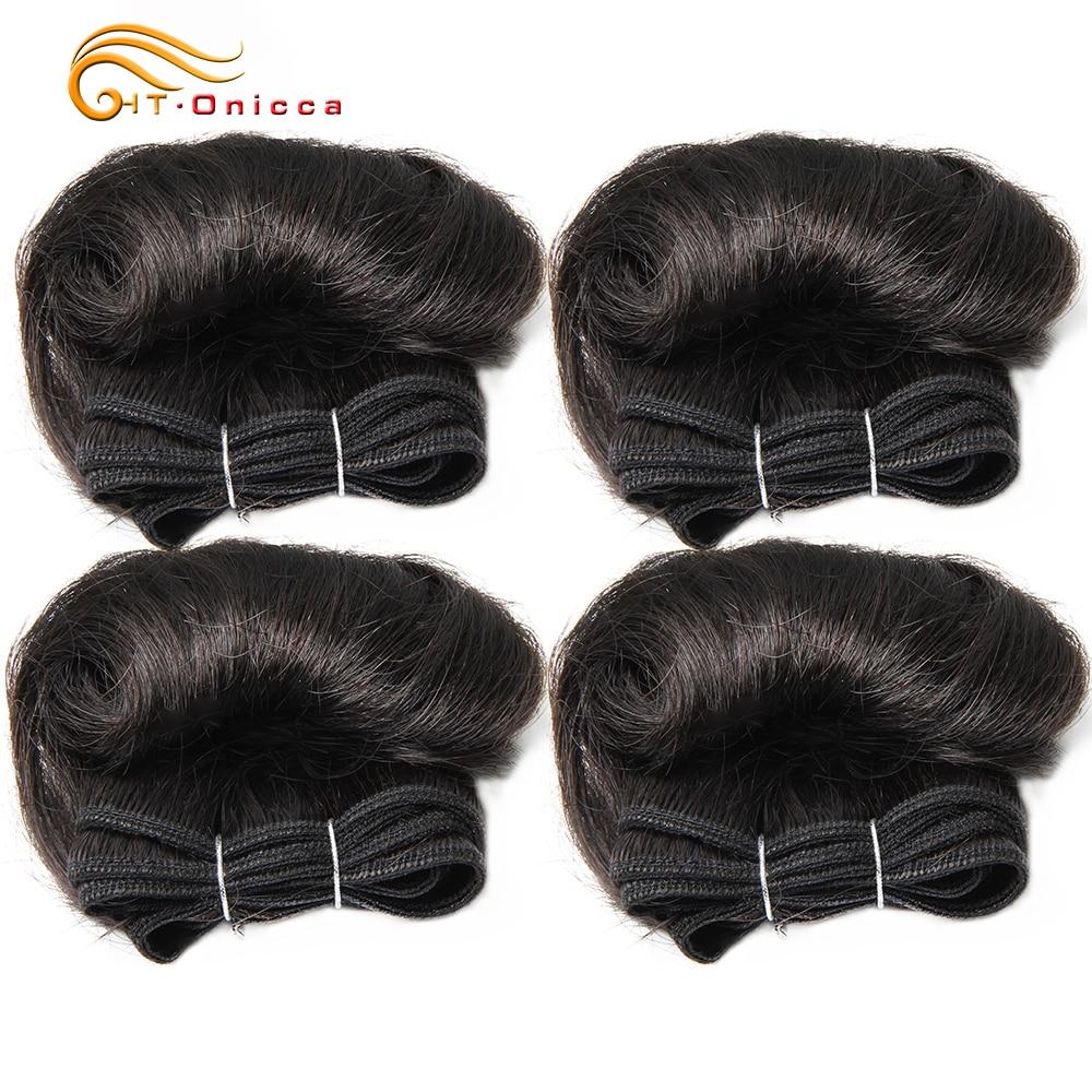 Curly Hair 4 Bundles Double Drawn  5 5 6 7 Inch  Hair  Bundles 1B 27 30 99J Color  6