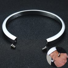 Mens Gelang Unik Guci Kremasi Manset Bangle untuk Abu Memorial Stainless Steel Pria Perhiasan(China)