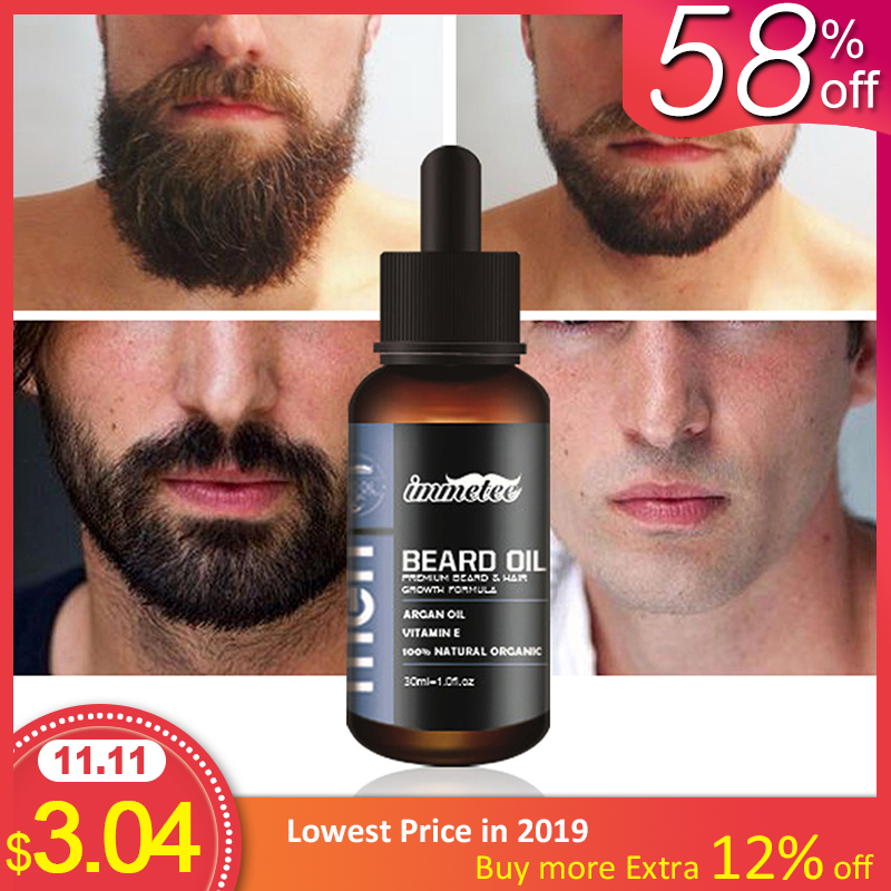 Beard Oil Hair Growth Essence for Anti Hair Loss Products for Topical Treatment Serum Stimulation Fast Thick Hair Care Solutions-in Hair Loss Products from Beauty & Health