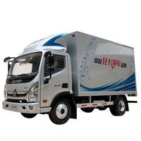 1:24 Diecast Model for Foton OLLIN CTS Light Truck Alloy Toy Miniature Gifts Tractor Trailer