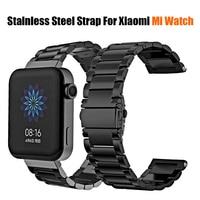 Cinturino in acciaio inossidabile per Xiaomi Mi Watch cinturino in metallo cinturino in tinta unita xaomi xiomi xiami miwatch cinturini