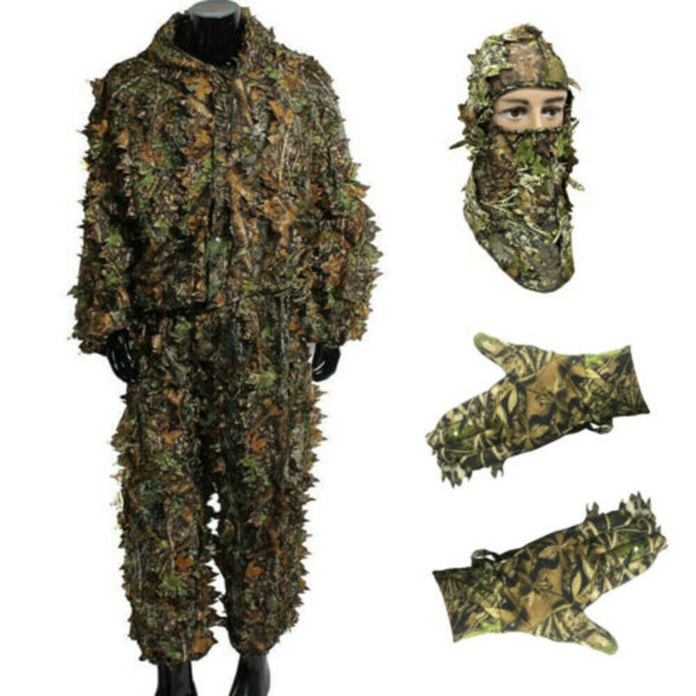 GUGULUZA 3D Sneaky Camo Leaf Face Mask For Woodland Jungle Stealth Ghillie Suit Hunting