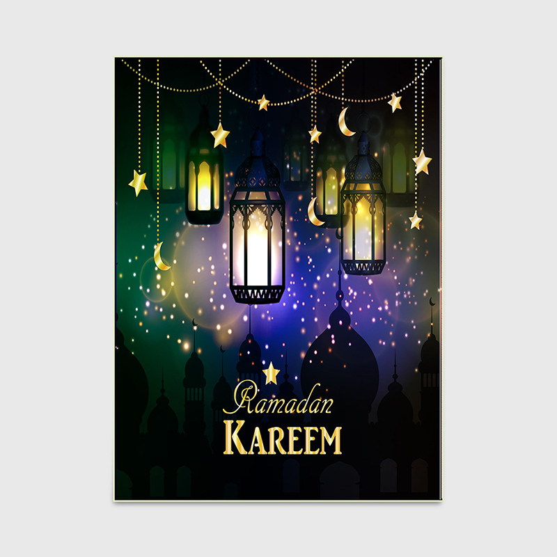 Image 4 - RAMADAN KAREEM Muslim Carpet for Living Room Islam Prayer Rugs  Non Slip Moon Lighthouse Church Mat Chair Cushion 3D CarpetsCarpet   -