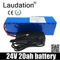 Laudation 24В 20ah литиевая батарея Встроенный 18650 пакет для 250 Вт 350 Вт 500 Вт 750 Вт электрический велосипед с 25A BMS и 29,4v2a зарядное устройство