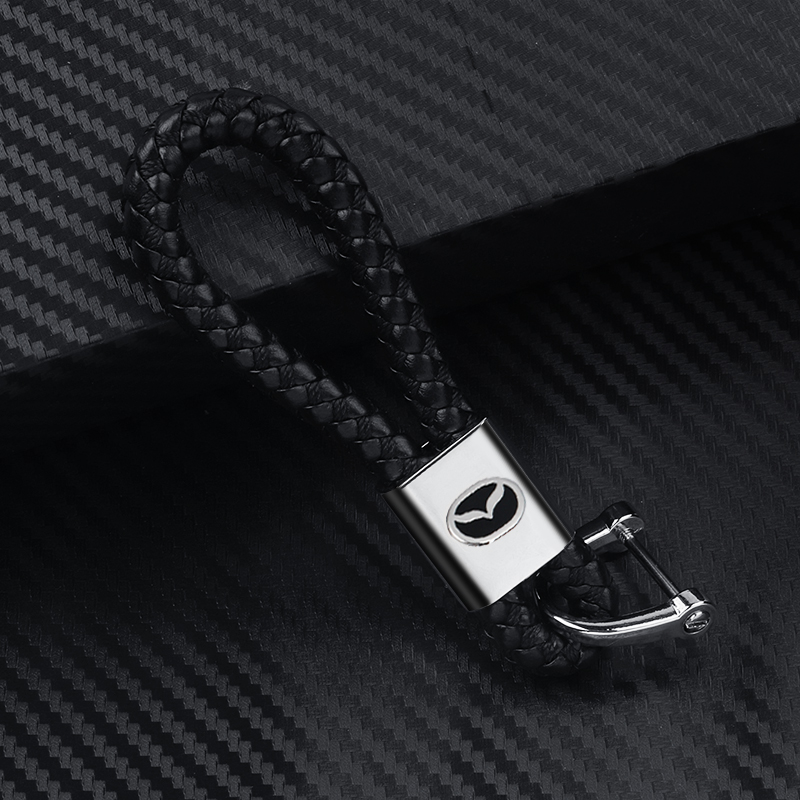 1 piece Car key ring chain pendant for Mazda 6 Atenza CX-4 CX-5 Mazda 3 Axela hand braided rope braided keychain Accessories image