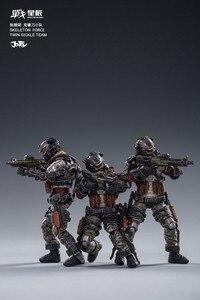 Image 2 - JOYTOY JT0173 Skeleton Forces Double Sickle SQUAD 1/18 Action Figure Set 3