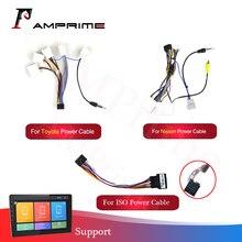 Adaptador de arnés de cableado para coche, accesorios de radio para coche Android, cable universal para Nissan Toyota
