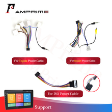 Android Radio Auto Accessoires Wire Kabelboom Adapter Connector Universele Kabel Voor Nissian Toyota Auto