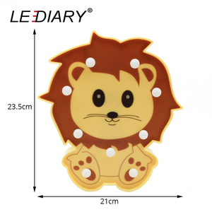 Image 3 - LEDIARY 3D צבעוני בעלי החיים LED לילה אורות חמוד פנדה האריה דביבון צורת המיטה שולחן מנורת לילדים צעצוע לילדים יום מתנה