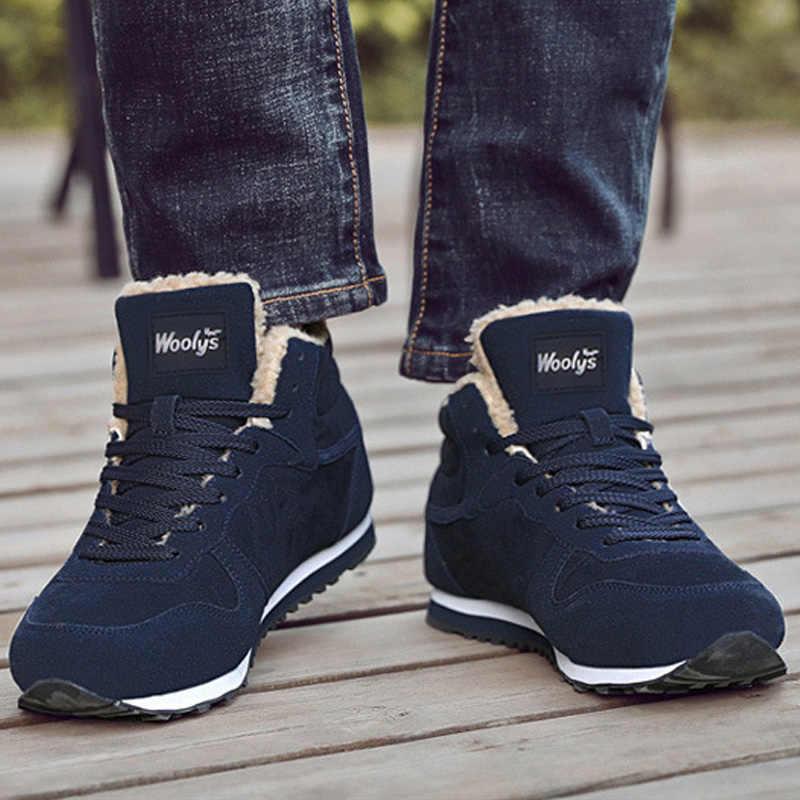 Hommes bottes d'hiver bottines pour hommes chaussures espadrilles décontractées hommes chaussures d'hiver hommes botte de neige en peluche hommes baskets amant chaussures 35 47