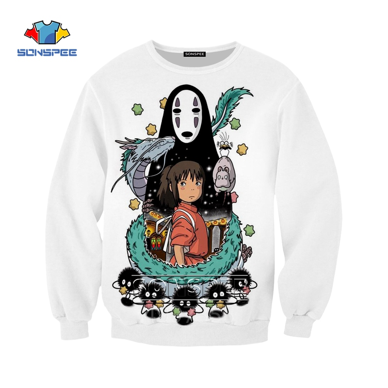Kid//Youth Sp-IRI-tEd Aw-Ay T-Shirts 3D Long Sleeve Tees for Girls Boys