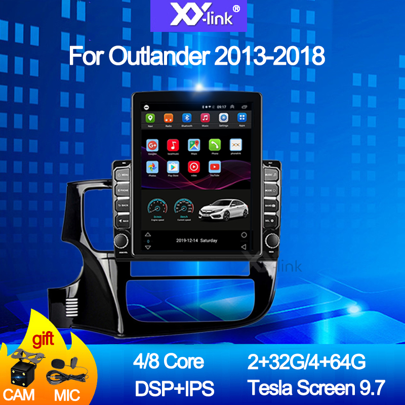 9.7 inch tesla style <font><b>screen</b></font> Android 10.0 car radio For <font><b>Mitsubishi</b></font> <font><b>Outlander</b></font> 2013-2018 Car DVD GPS Navigation Multimedia audio image