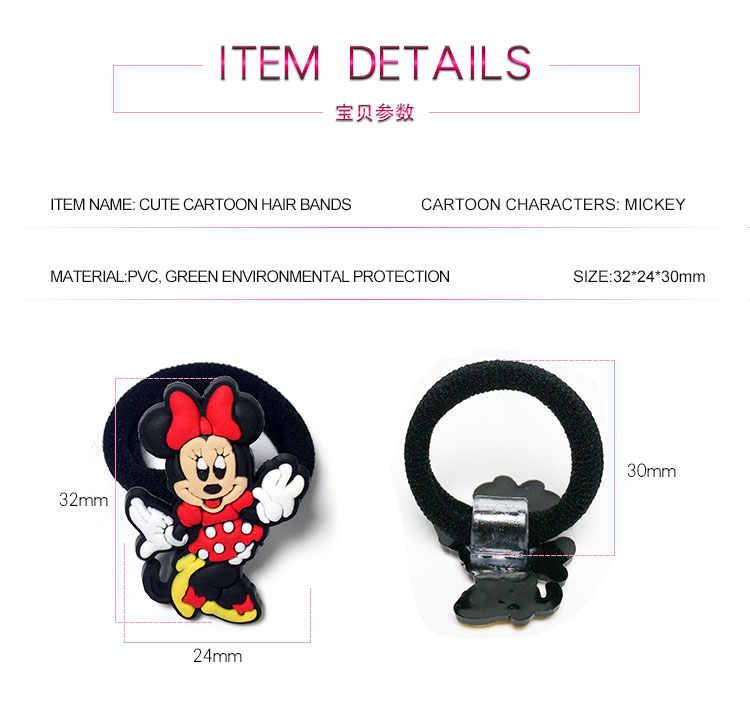 8 pcs/lot Mickey Minnie licorne princesse enfants élastique bande de cheveux bébé en caoutchouc bandeau serre-tête enfants cheveux accessoires Barrettes