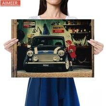 Paper Poster Classic Retro MINI Home-Decoration Bar Kraft Painting-Core Auto-Repair-Shop