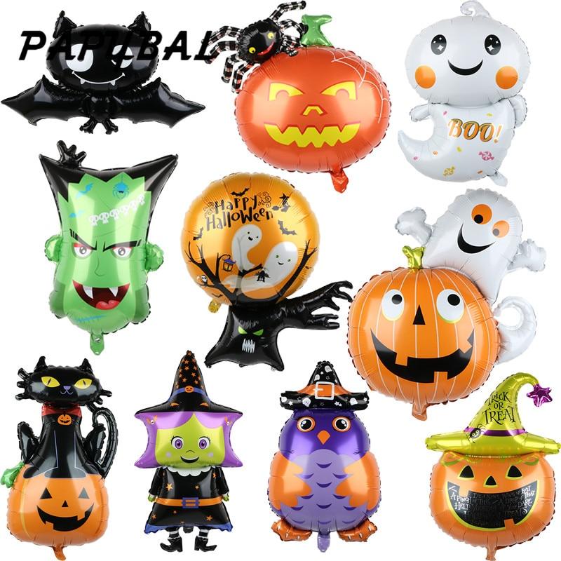 1pcs Halloween Pumpkin Ghost Bat Birthday Party Supply Foil Balloon Decorations