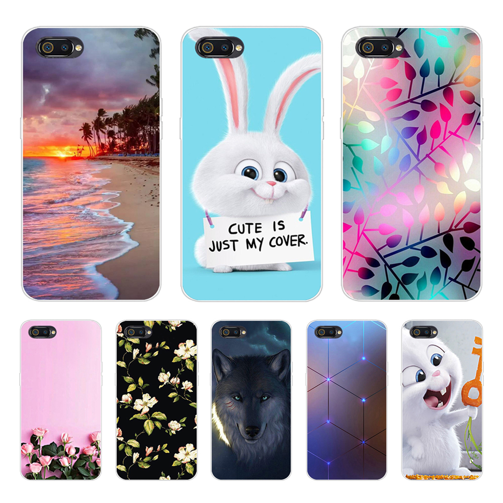 Realme C2 Case Realme C2 Case Cover 6.1 Cartoon Soft TPU Silicone Back Cover Phone Case For OPPO Realme C2 C 2 RealmeC2 RMX1941