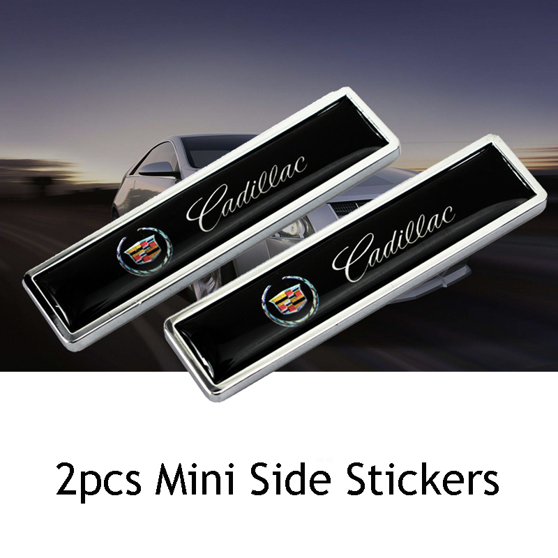 For Cadillac CT5 CT6 XT5 XT6 Escalade CTS DTS SLS XLR ATS SRX Tiburon Deville 2pcs Stickers Auto Body Alloy Decal New Styling