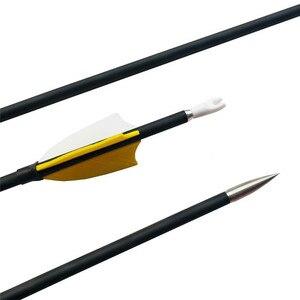 Image 3 - 12 pièces 31 pouces tir à larc carbone flèche Composite Fiber de carbone avec flèche carquois colonne vertébrale 1000 composé/arc classique accessoires de chasse