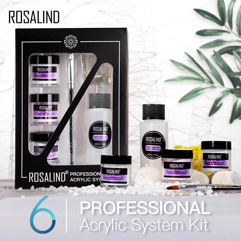 Набор акриловых ногтей ROSALIND для наращивания ногтей набор инструментов акриловый порошок для полупостоянных гель-лаков для дизайна ногтей