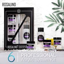 Rosalind acrílico prego kit para ferramenta de extensão do prego conjunto acrílico em pó para semi permanente gel polonês construtor arte do prego