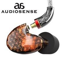 AUDIOSENSE auriculares T180 PRO knoples individuales BA IEM, desmontable, MMCX, 8 hebras, cable SCX de 19 núcleos, armadura equilibrada HiFi