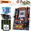 HUANANZHI X79 deluxe האם מעבד RAM סט עם וידאו כרטיס GTX1050Ti 4G DDR5 מעבד Xeon E5 2660 V2 RAM 64G (4*16) DDR3 RECC-בלוחות אם מתוך מחשב ומשרד באתר