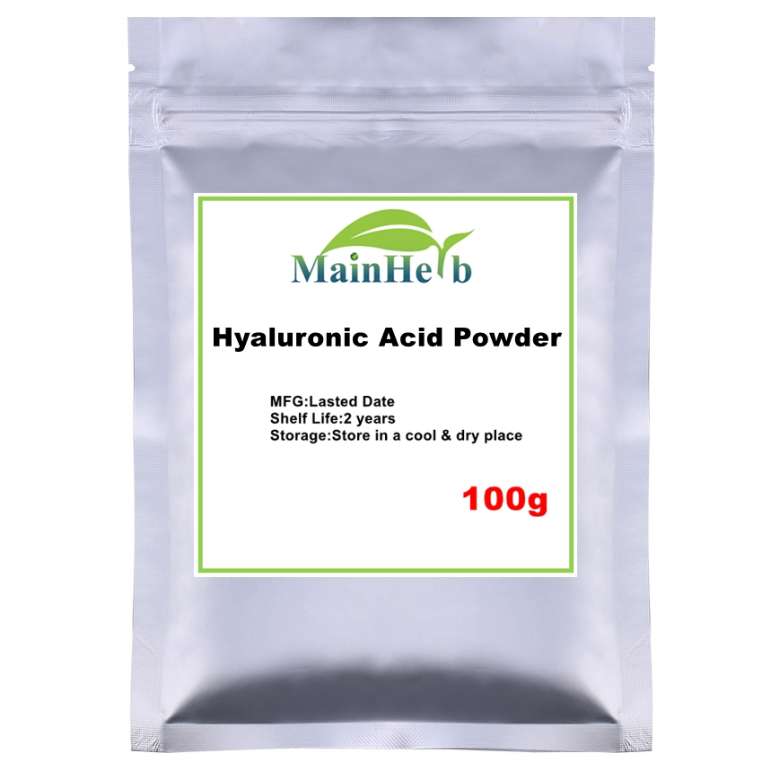 100-1000g Food&cosmetic &Pharmaceutical Pure Hyaluronic Acid Powder For Moisturizing,hyaluronic Acid Serum Powder