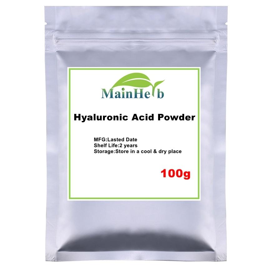100-1000g Food&cosmetic &Pharmaceutical Pure Hyaluronic Acid Powder For Moisturizing,hyaluronic Acid Serum Powder